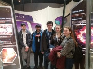 Engineering students at the National Space Centre