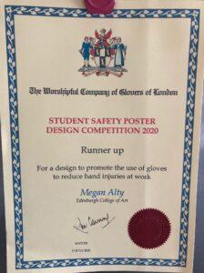 Megan's certificate