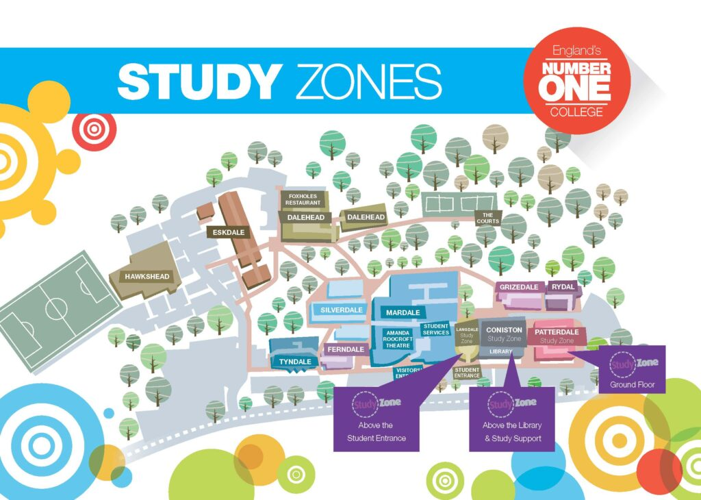 Study Zones Map Langdale Road Leyland