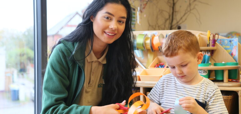 Childcare Apprentice in the workplace