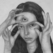 A Level Fine Art drawing