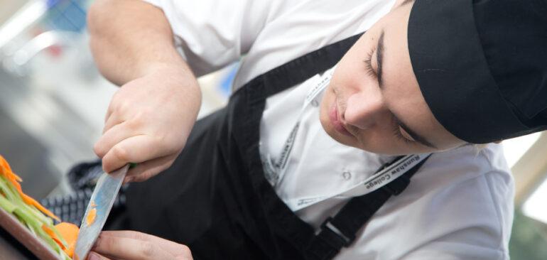 Chef apprentice in the kitchen