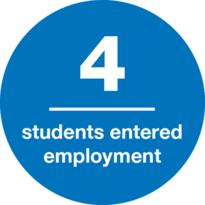 4 students entered employment