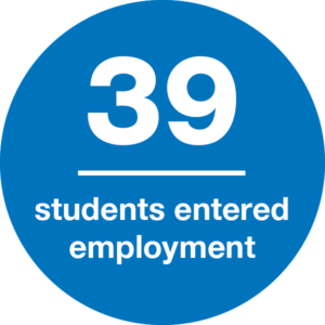 39 students entered employment
