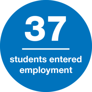 37 students entered employment