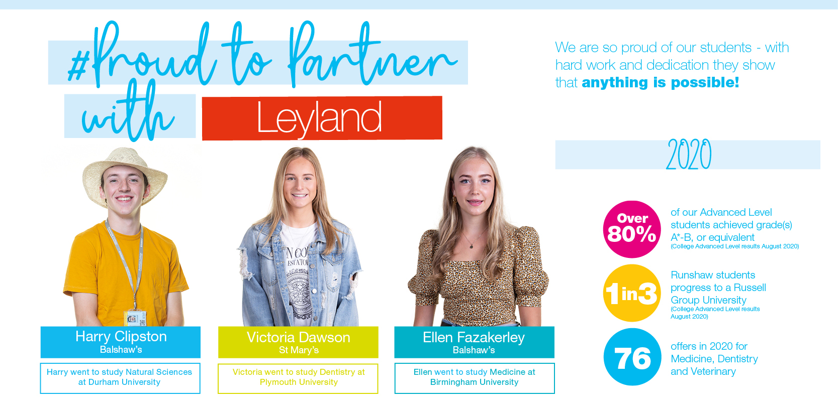 proud to partner with leyland