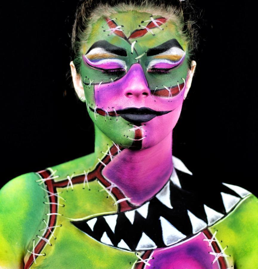 Halloween body art by Ellie Cooper